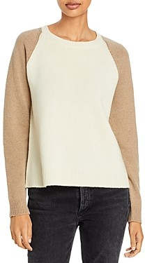 Majestic Filatures Color Blocked Wool & Cashmere Sweater