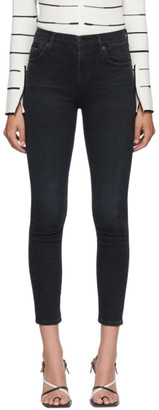 Citizens of Humanity Black Rocket Crop Skinny Jeans