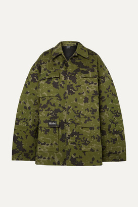we11done Camouflage-print Cotton Jacket - Army green