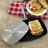 Chefs Hard Anodized Nonstick Panini Pan with Press
