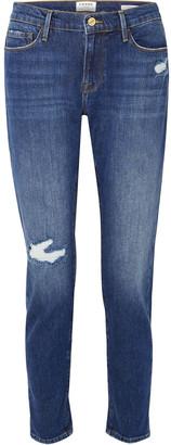 Frame Le Garcon Cropped Mid-rise Slim-leg Jeans
