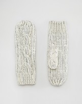 Alice Hannah Sparkle Cable Mittens