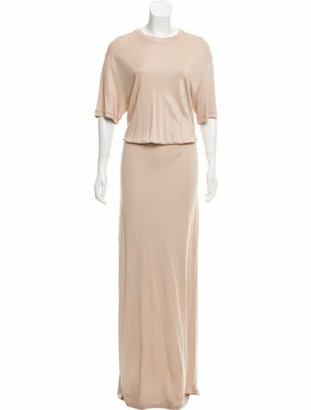 Givenchy Short Sleeve Evening Dress Beige