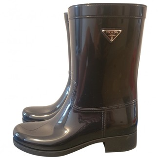 Prada Blue Rubber Boots