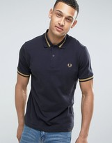 Fred Perry REISSUES Polo Single Tipped M2 Pique in Navy/1964 Gold