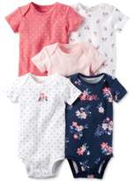 Carter's 5-Pk. Dot-Print Owl Cotton Bodysuits, Baby Girls (0-24 months)