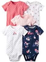 Carter's 5-Pk. Dot-Print Owl Cotton Bodysuits, Baby Girls