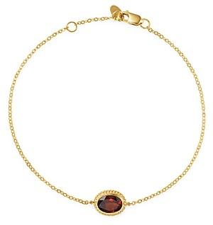 Bloomingdale's Garnet Oval Bracelet in 14K Yellow Gold - 100% Exclusive
