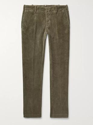 Incotex Slim-Fit Stretch-Cotton Corduroy Trousers