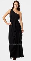 Aidan Mattox Grecian One-shoulder Evening Dresses