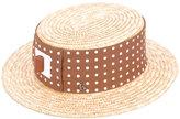 Kreisi Couture - polka dot panel hat - women - Straw - 57