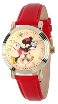 EWatchFactory Disney Minnie Mouse Women's Gold Vintage Alloy Watch