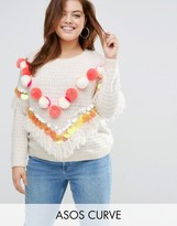 Asos Sweater with Pom and Sequins