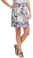 LOFT Botanical Print Summer Stroll Skirt
