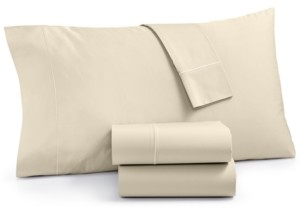 Martha Stewart Collection Organic 4-Pc Queen Sheet Set, 300 Thread Count Gots Certified, Created for Macy's Bedding