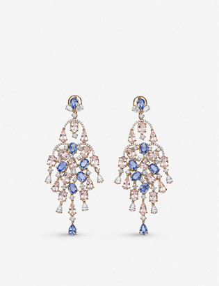 Piaget Possession 18ct rose gold diamond chandelier earrings