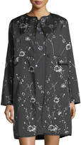 Max Studio Embroidered Floral Jacquard Jacket