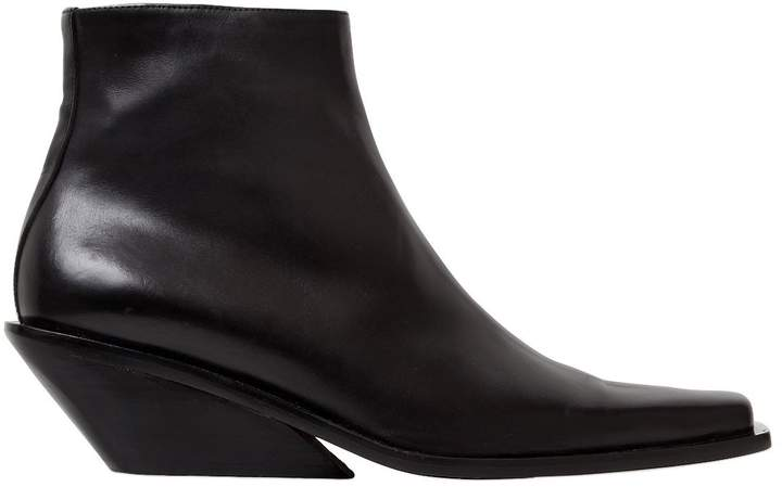 Ann Demeulemeester 60mm Leather Ankle Boots