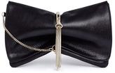 Jimmy Choo 'Charley' metal ring metallic leather clutch
