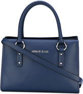 Armani Jeans double handles structured tote - women - Cotton/Polyester/Polyurethane/Viscose - One Size