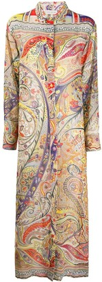 Etro Paisley Shirt Maxi Dress