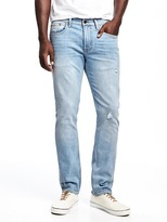 Old Navy Built-In Flex Distressed Slim Jeans for Men