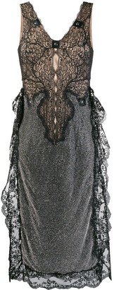 Christopher Kane Crystal Mesh Sleeveless Dress