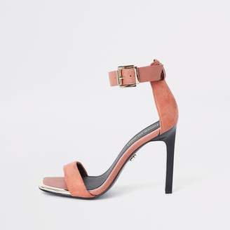 River Island Womens Orange barely there square toe sandals