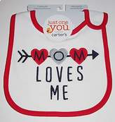Carter's Baby Girl Mom Loves Me Bib by Just One You Made