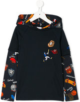 Dolce & Gabbana sports print hoodie - kids - Cotton/Polyester/Polyurethane/Viscose - 6 yrs