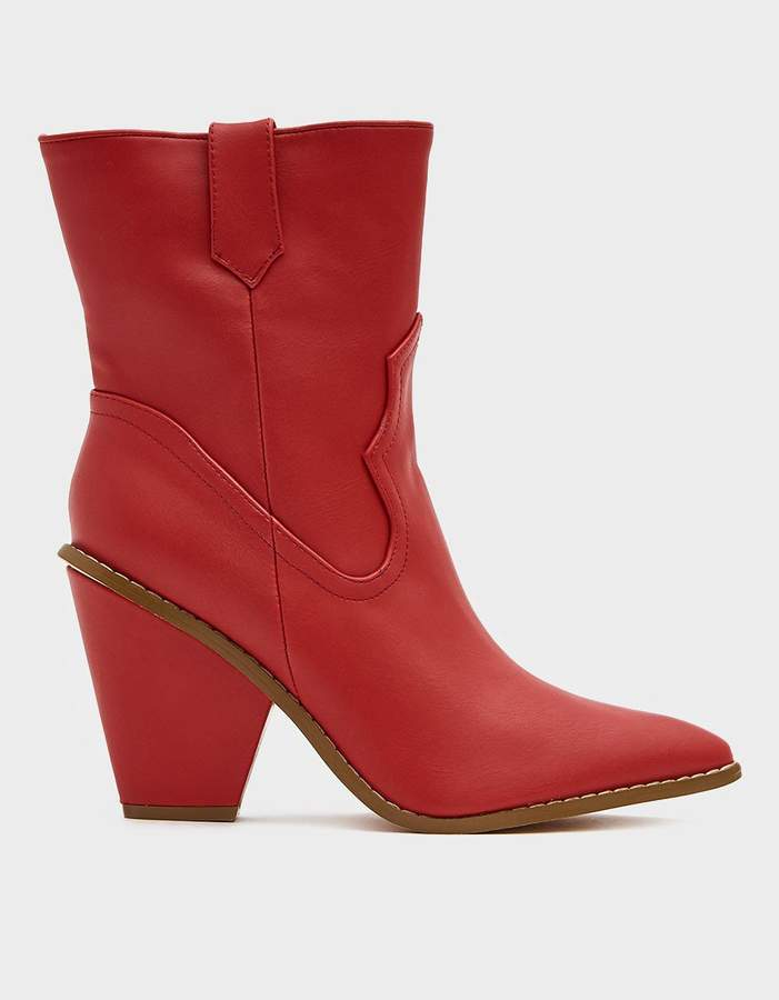 e81fe4552d4 Sandy Western Boot in Red