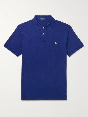 Polo Ralph Lauren Slim-Fit Logo-Embroidered Cotton-Pique Polo Shirt