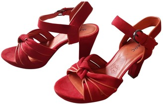 Marc by Marc Jacobs Red Suede Sandals