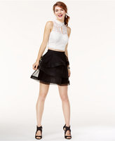 Speechless Juniors' 2-Pc. Glitter Lace Dress, A Macy's Exclusive