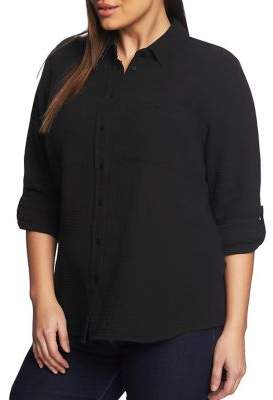 1.STATE Plus Patch Pocket Button Front Shirt