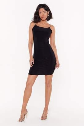 Nasty Gal Womens Drop It Down Low Scoop Neck Mini Dress - Black - 4, Black