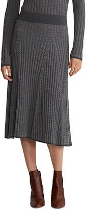 Polo Ralph Lauren Ribbed Herringbone Knit Skirt