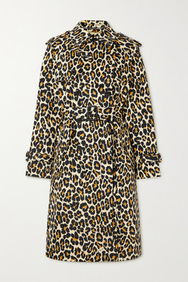 Marc Jacobs The Trench Belted Double-breasted Leopard-print Denim Coat - Leopard print