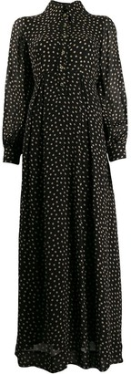 Ganni Polka Dot Maxi Dress
