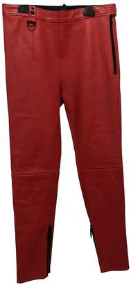 Louis Vuitton \N Red Leather Trousers for Women