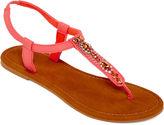 MIXIT Mixit Embellished T-Strap Sandals
