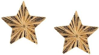 Saint Laurent Star Hammered Earrings