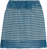 See by Chloe Crocheted cotton mini skirt