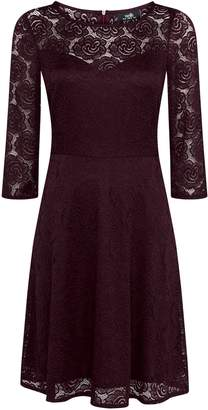 Wallis Purple Lace Fit and Flare Dress