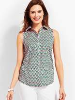 Talbots Scallop Shirt-Dancing Pineapple