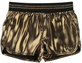 Little Marc Jacobs Black Viscose Reversible Satin Shorts