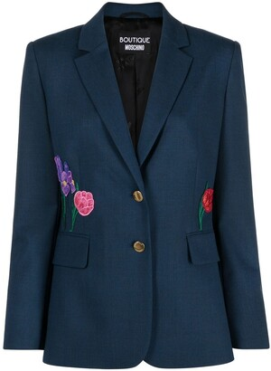 Boutique Moschino Floral-Embroidered Jacket