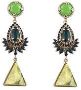 Iosselliani Collet Triangular Drop Earrings