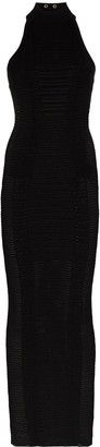 Balmain Halterneck Fitted Dress