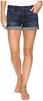 7 For All Mankind Roll Up Shorts in Nouveau New York Dark